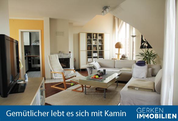 +Vermietet+ 2-ZKB Wohnung mit Loggia und Kamin